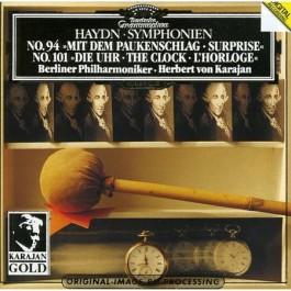 Berliner Philharmoniker Karajan Haydn Symphonien Nr94 mit Dem Paukenschlag, Nr101 die Uhr CD