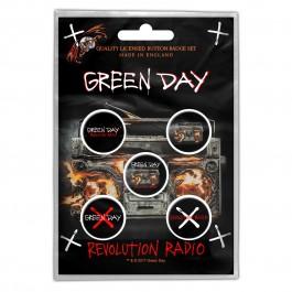 Green Day Button Badges 5 Komada BADGE